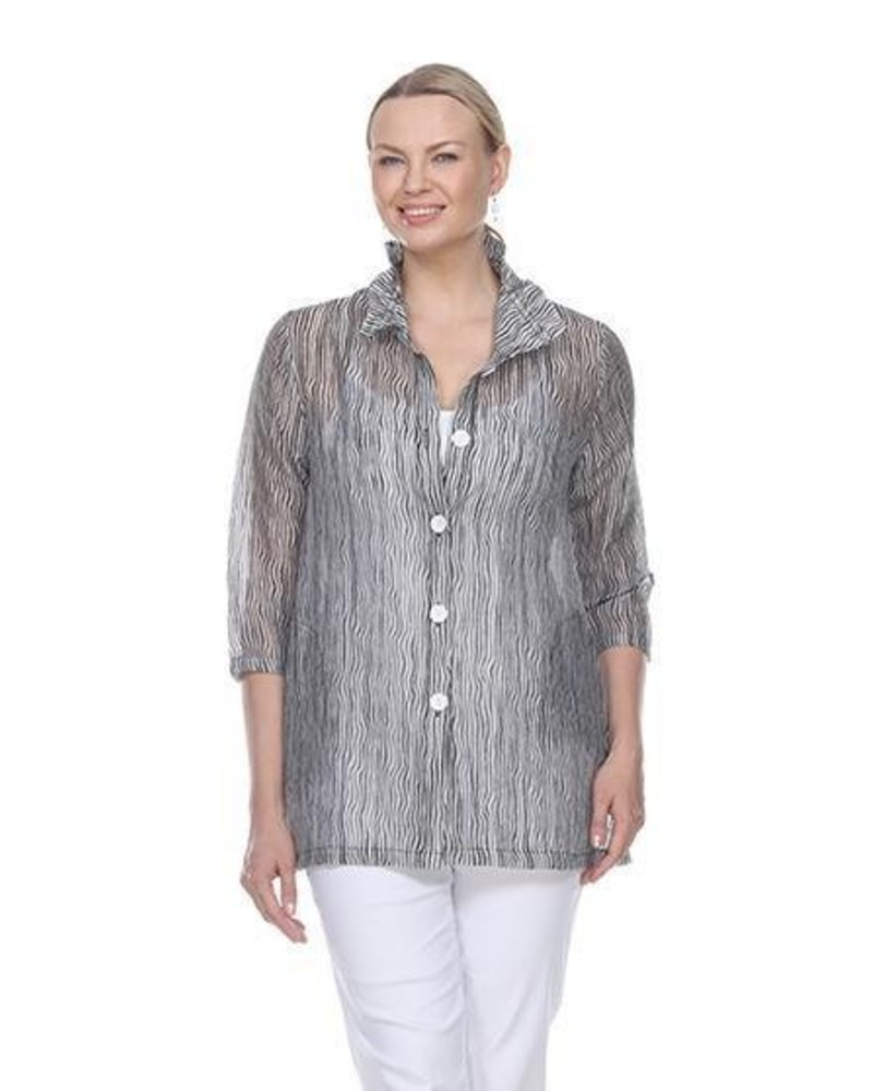 Micro Waves Tunic Jacket