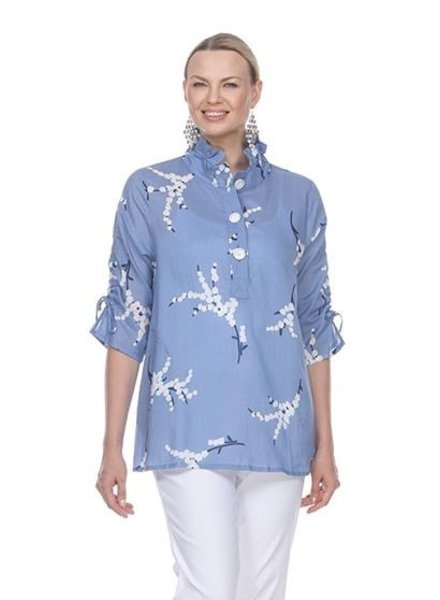 Terra Terra's Cherry Blossom Top In Blue