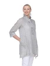 Terra Swing Jacket Tunic In Soft Grey