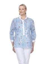 Terra French Blue Floral Top