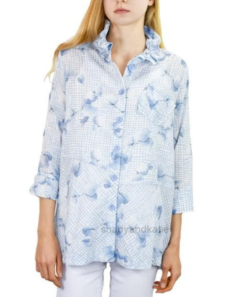 Terra Terra's French Blue Floral Top