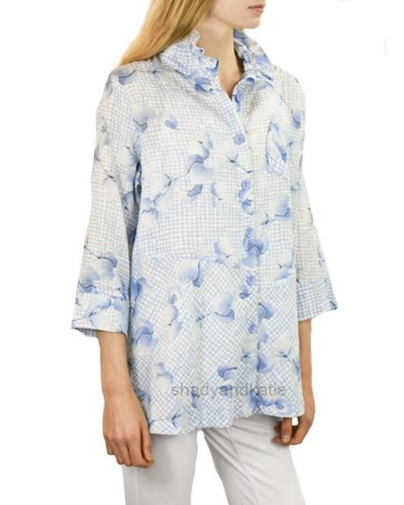 Terra's French Blue Floral Top