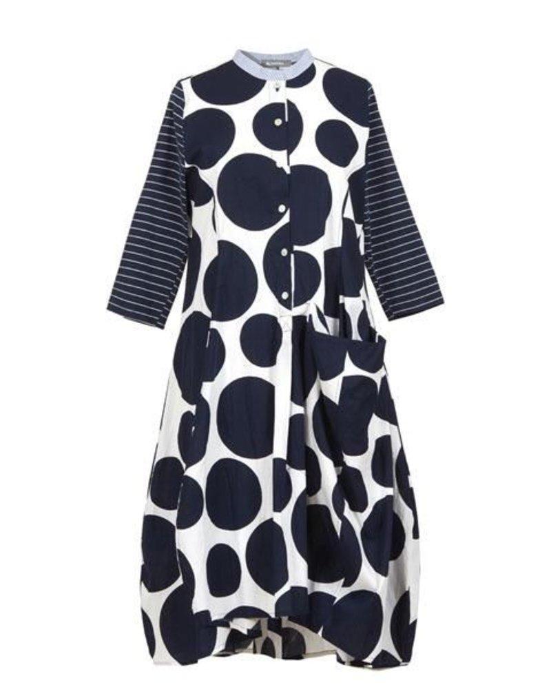 Alembika Alembika Love Big Dot Dress In Navy