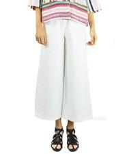 Alembika Alembika's Wide Leg Cotton Pant In White