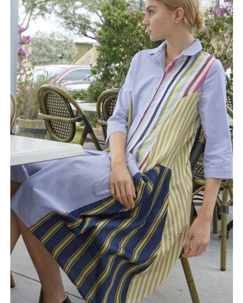 Alembika Alembika's Big Pocket Dress In Multi Cottons