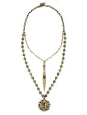 French Kande French Kande Verte Jade & Lace And Pointu Pendant