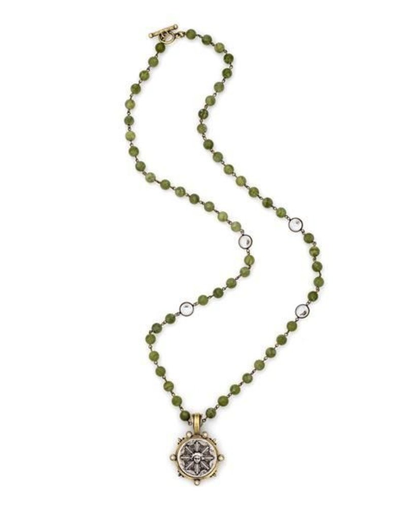 French Kande French Kaned Jade & Sun King Medallion