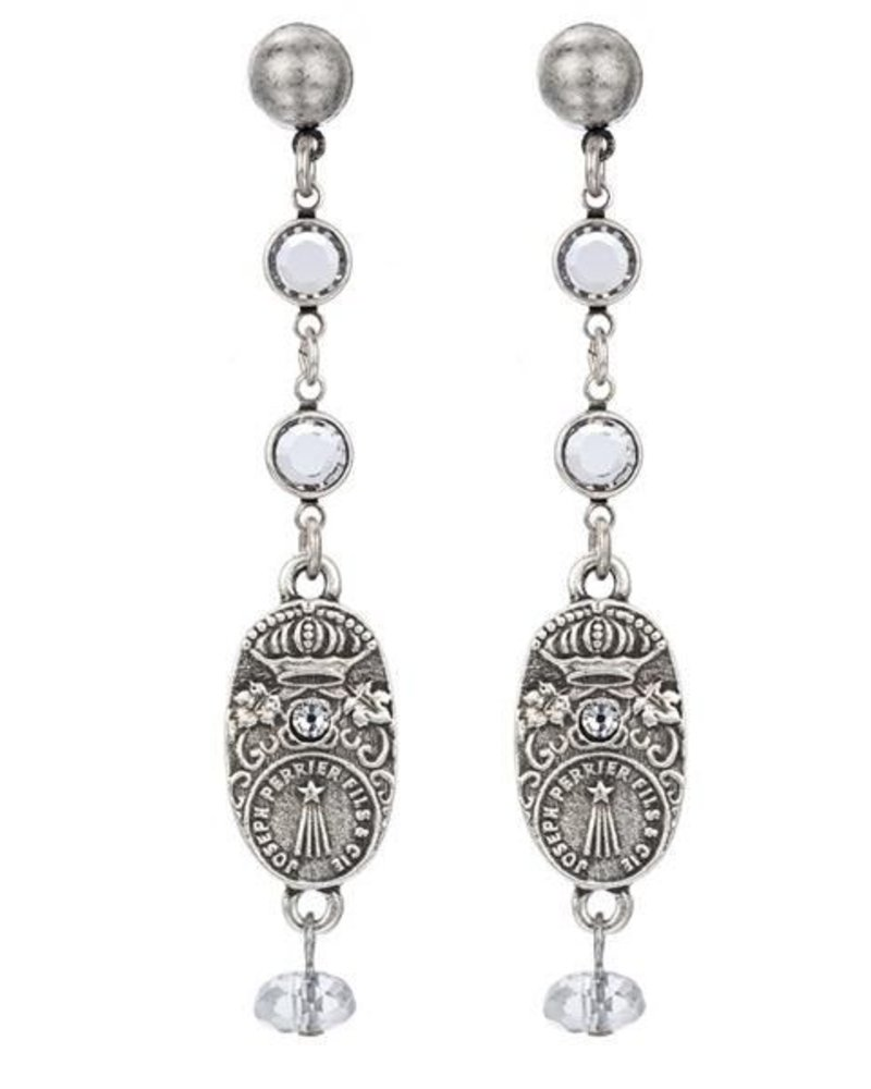 French Kande French Kande Swarovski Drop Earrings & Cuvee Pendants