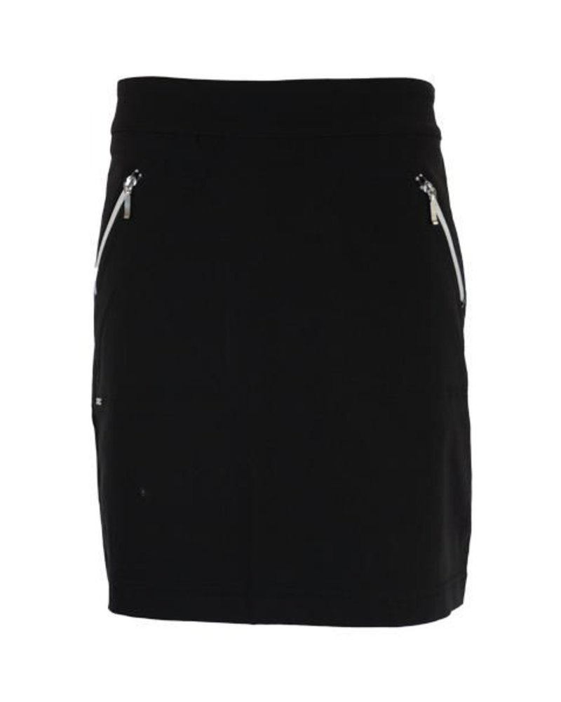Renuar Renuar's Zipper Skort In Black