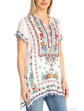 Johnny Was Liesse Tunic In White