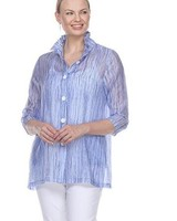 Terra's Tencel Tunic Jacket In Blue