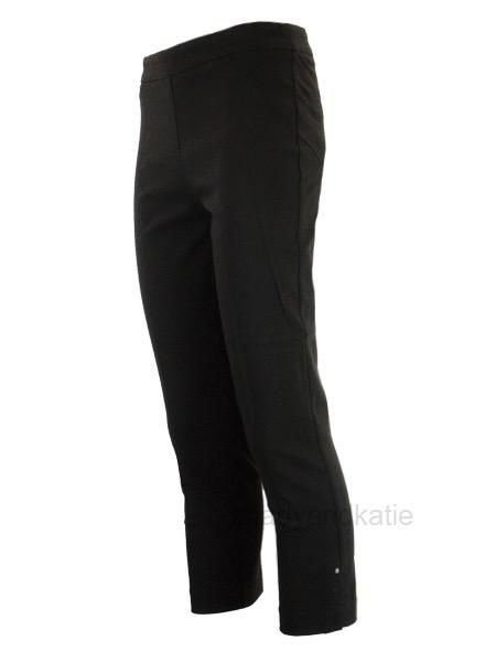 Renuar Renuar's Side Vent Capri In Black