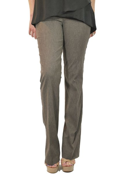 Renuar The Straight Leg Magic Pant In Heather Taupe