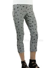 Renuar Renuar Black Check & Flower Capris