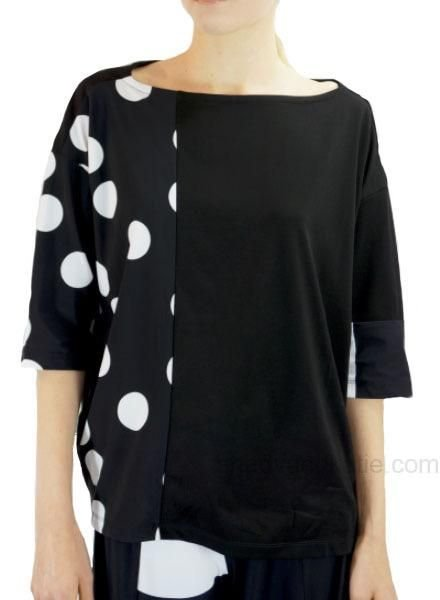 Alembika Alembika's Mixed Top In Black & White