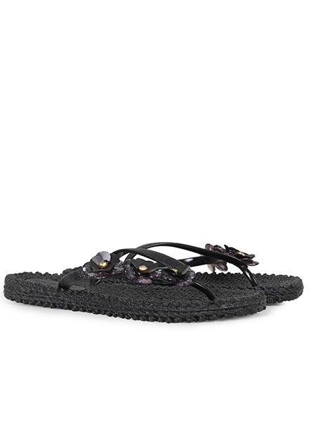 Ilse Jacobsen Ilse Jacobsen Cheerful Floral Flip Flops In Black