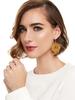 Baroque Resin Drop Earrings In Black