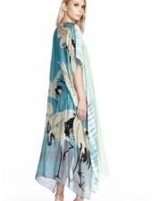 Aratta Aratta's Beauty Maxi Kimono In Aqua Teal