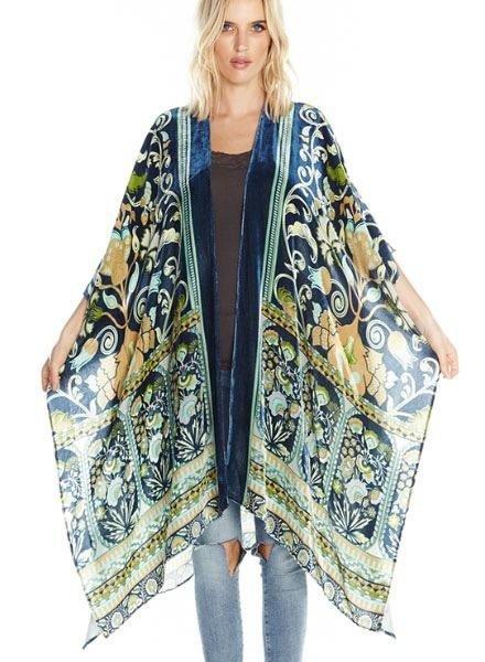Aratta Aratta's Ascott Kimono In Burn Out Emerald