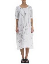 Griza's Long Linen Dress In Floating Flowers