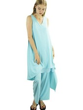 Renuar Renuar's Goddess Dress In Light Aqua