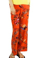 Renuar Renuar's Tropical Tangerine Pull On Trouser