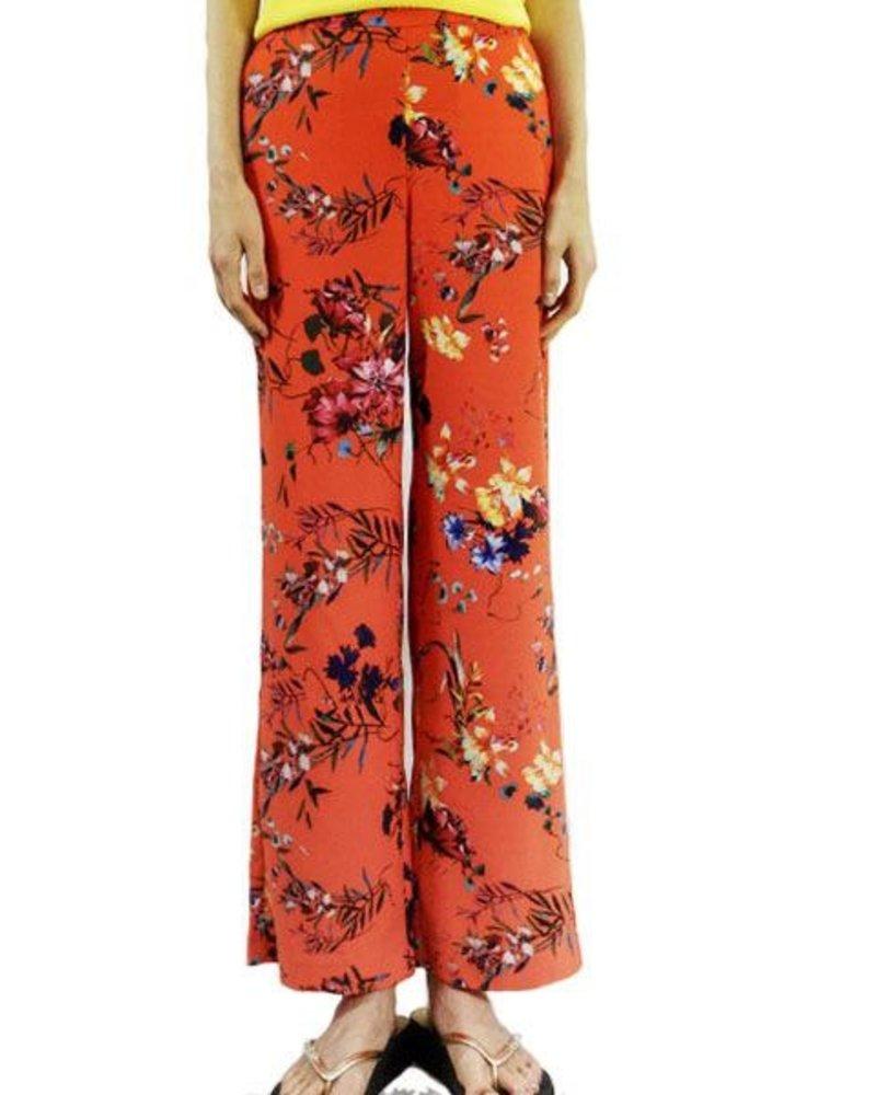Renuar Renuar's Tropical Tangerine Pull On Trouser