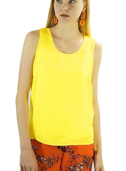 Renuar Renuar Sleeveless Ariflow Top In Buttercup