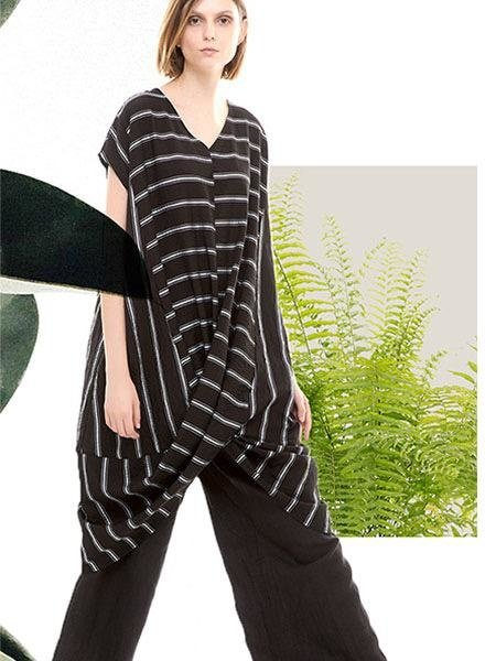 Colour 5 Power Black & White Stripe Tunic