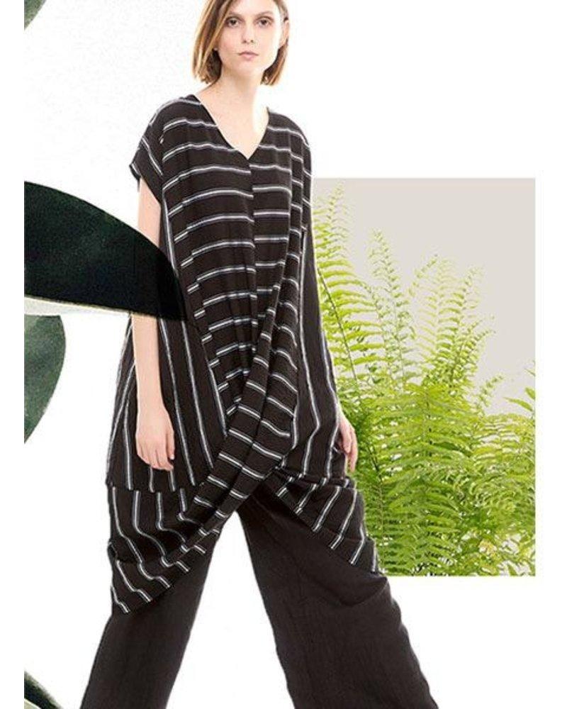 Colour 5 Power Black & White Stripe Tunic