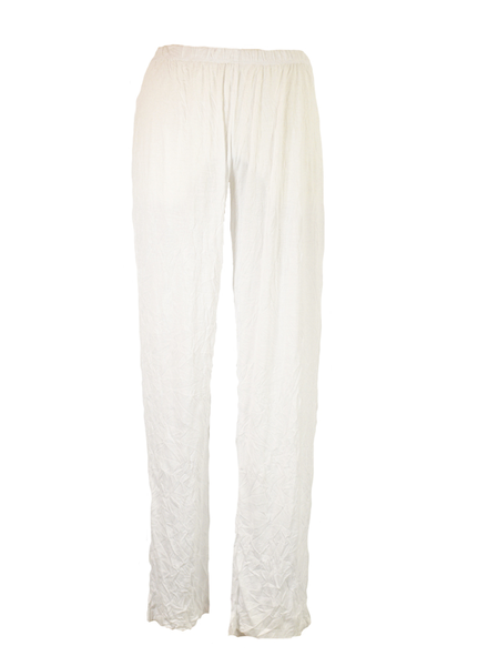 Comfy U.S.A. Comfy Long Narrow Crinkle Pant In White
