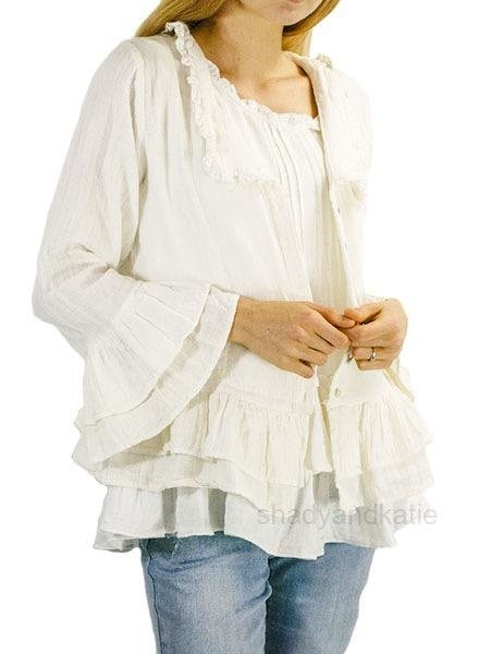 Paper Lace Ruffled Crop Jacket