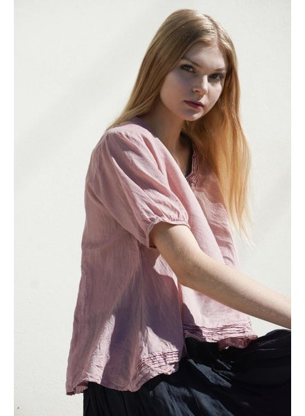 J.P. & Mattie J.P. & Mattie Pixie Pleated Top In Antique Pink