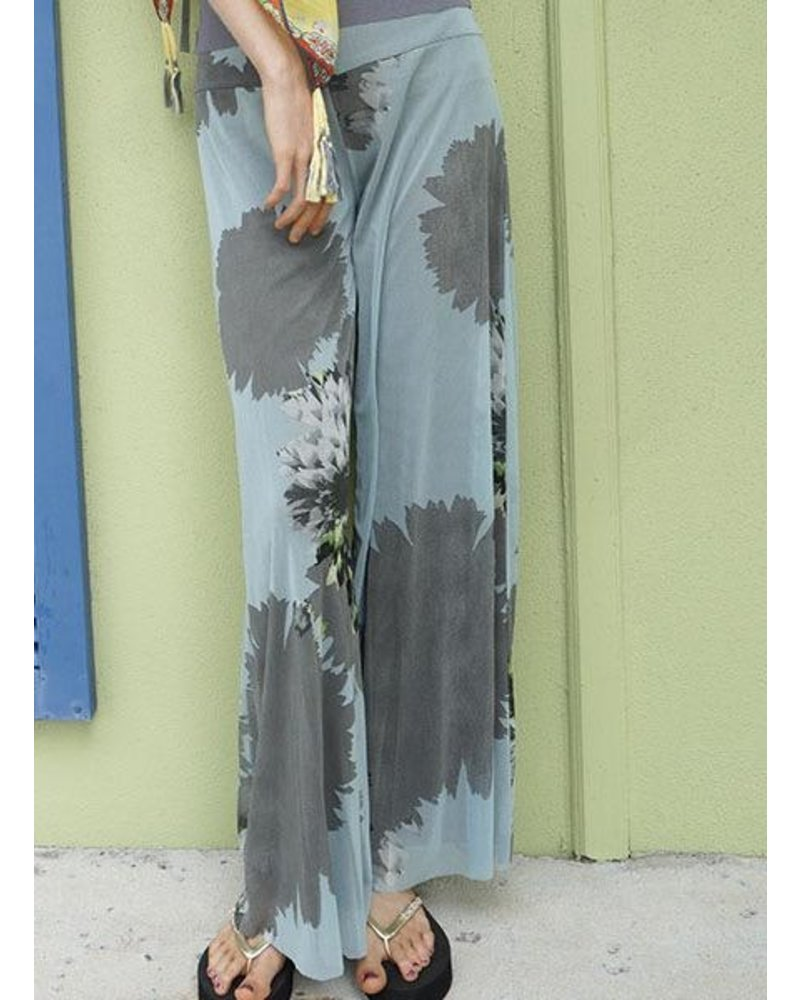Petit Pois Lined Palazzo Pant In Sunset Print