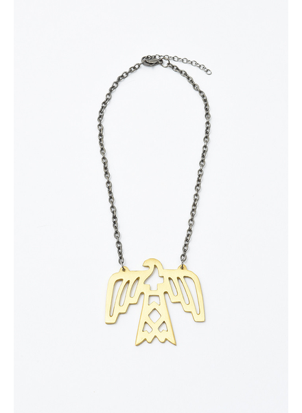Elohi Brass Thunderbird Necklace