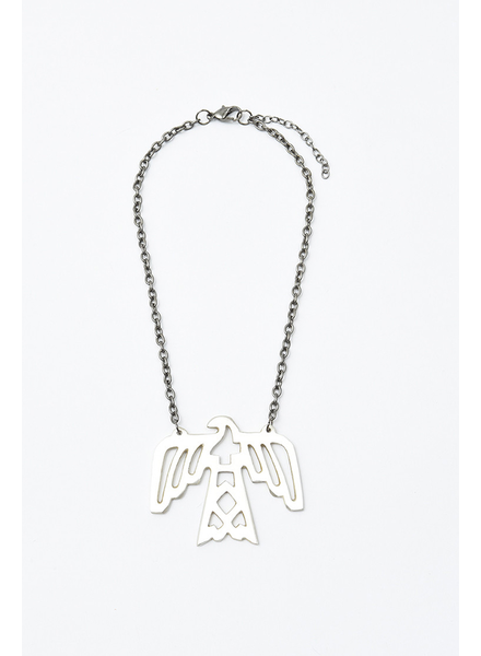 Elohi Silver Thunderbird Necklace