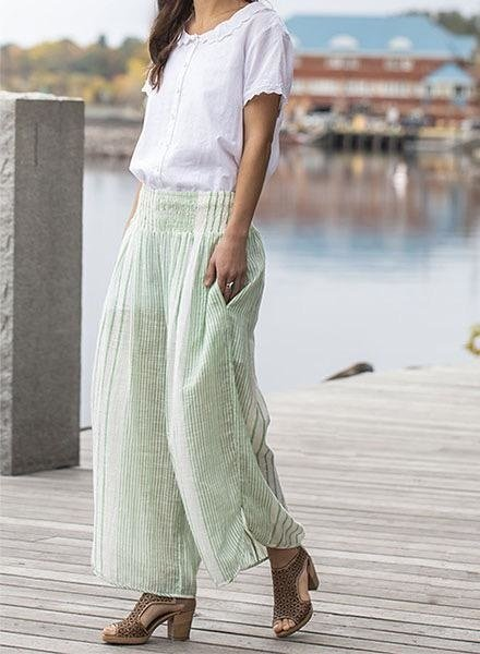 April Cornell April Cornell French Stripe Pant In Spring Green