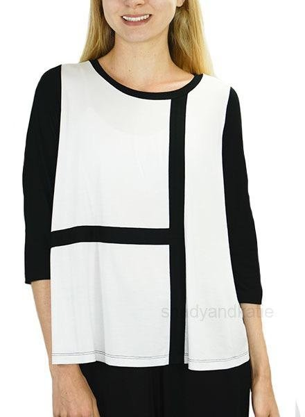 Comfy USA Kate Top In White & Black