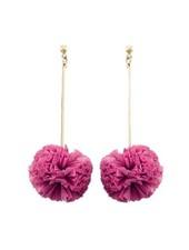 Raffia Ball Drop Earrings