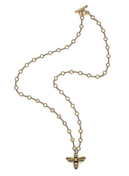 French Kande French Kande Golden Shadow Swarovski & Miel Pendant