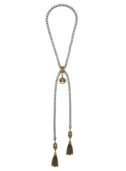 French Kande French Kande Swarovski, Brass Tassels, Immaculate Heart & Cuvee Pendants