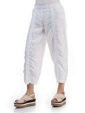 Griza's Linen Trouser In White