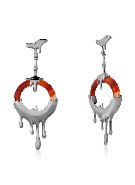 Maria Dolores Maria Dolores Heat Earrings In Red Agate