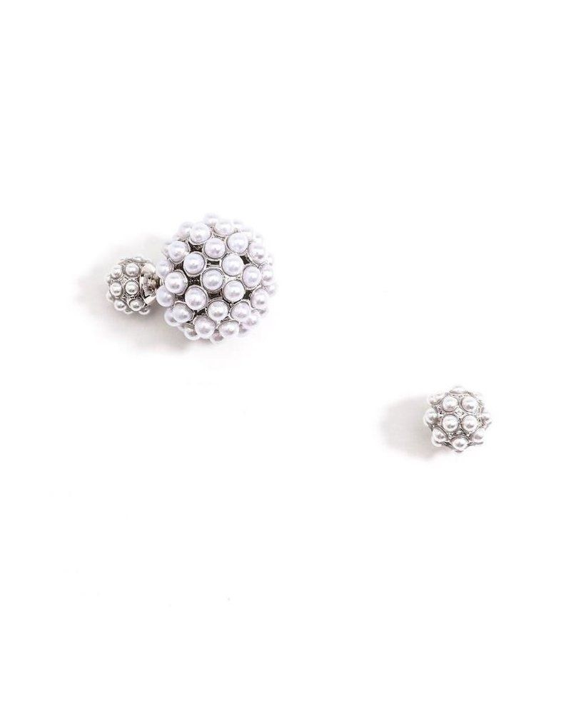 Blooming Pearl Double Ball Earrings