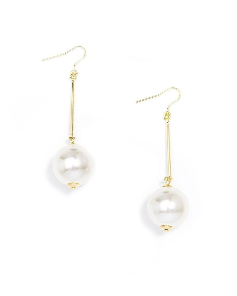 Pearl Ball Drop Earring