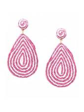 Candy Teardrop Raffia Earrings
