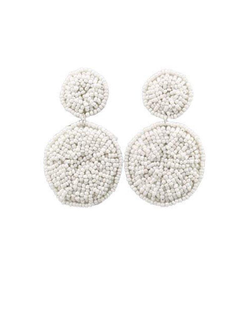 Moon Over Moon Earrings In White