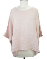 Italian Linen Box Top In Soft Pink