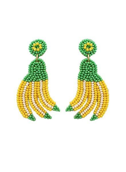 Beaded Banana Earrings