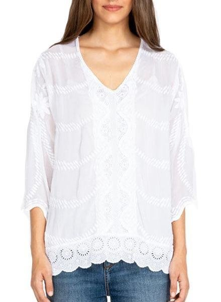 Johnny Was Johnny Was Milani Tunic In White